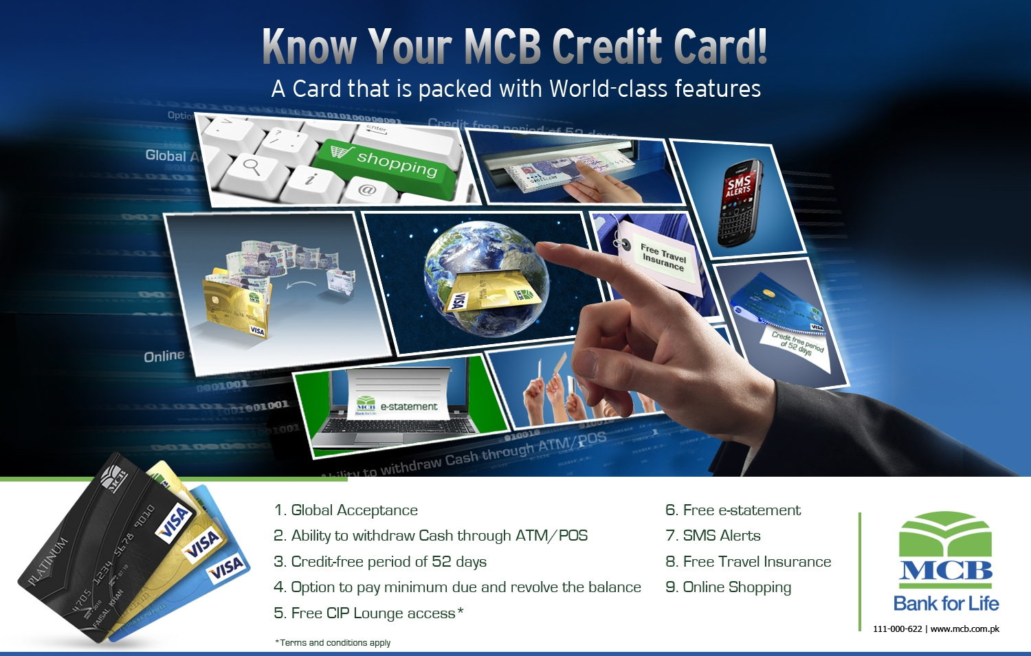 Visa Credit Card Login >> MCB Bank Pakistan | Personal | Credit Cards